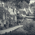 Vintage Photo Effect Medieval Arlington Row In Cotswolds Country by Matthew Gibson