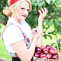 Vintage Val Apple Picking by Jill Wellington