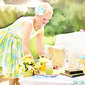 Vintage Val Iced Tea Time by Jill Wellington