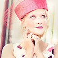 Vintage Val The Coral Hat by Jill Wellington
