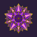 Violet Galactic Star by Mandala Matrix