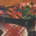Violin Case And Flowers by Mark Gertler