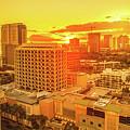 Waikiki City Sunset by Benny Marty