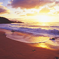 Waimea Bay Sunset by Bob Abraham - Printscapes