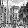 Wall Street, 1889 - To License For Professional Use Visit Granger.com by Granger