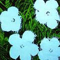 Warhol - Flowers 3 Andy Warhol by Eloisa Mannion