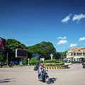Wat Damnak Roundabout In Central Siem Reap City Cambodia by Jacek Malipan