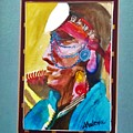 Water Healing Ceremonial Chief Yaz by Abelone Petersen