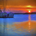Watercolor Sunset by Dave Bosse