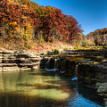 Waterfall At Cascades State Park by Walt Sterneman