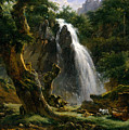 Waterfall At Mont-dore by Achille Etna Michallon