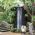 waterfall in tripcal garden Monte Madeira by Compuinfoto