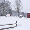 Wayside Inn Grist Mill Covered In Snow Storm by Toby McGuire