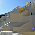 White Architecture In The City Of Oia In Santorini, Greece by Oana Unciuleanu