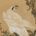 White Eagle Eyeing A Mountain Lion by Kawanabe Kyosai