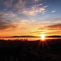 Willard Bay Sunset by Gina Herbert
