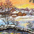 Winter Evening. by Maya Bukhina