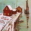Winter Sail by Gloria M Apfel