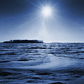 Winter Setting Sun Blue Toned by Donald  Erickson