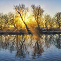 Winter Sunrise Over The Ouse by James Billings