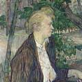 Woman Seated In A Garden by Henri De Toulouse Lautrec