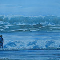 Women In The Surf by Jenny Armitage