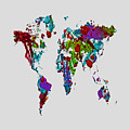 World Map 1b by Brian Reaves