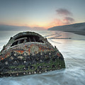 Wreck Of Laura - Filey Bay - North Yorkshire by Martin Williams