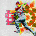 Yadier Molina St. Louis Cardinals Baseball by David Haskett II
