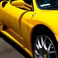 Yellow Ferrari by Jeff Lowe