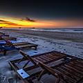 Yellow Sunrise Beach Chairs by Michael Thomas