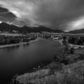 Yellowstone River Camp by Rick Strobaugh