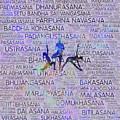 Yoga Asanas / Poses Sanskrit Word Art  by Creativemotions