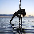 Yoga On The Coastline by Brandon Tabiolo - Printscapes