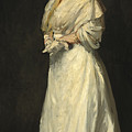 Young Woman In White by Robert Henri