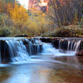 Zion Autumn Foliage Waterfall by Pierre Leclerc Photography