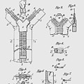 Zipper Patent Art  by Chris Smith