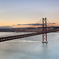 25th Of April Suspension Bridge In Lisbon by Andre Goncalves