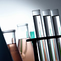 Laboratory Test Tubes In Science Research Lab by Olivier Le Queinec