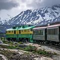 Scenic Train From Skagway To White Pass Alaska by Alex Grichenko