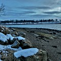 Sunset Over Obear Park In Snow by Scott Hufford