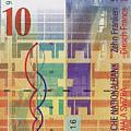 10 Swiss Franc Bill by Serge Averbukh