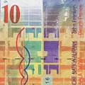 10 Swiss Franc Pop Art Bill by Serge Averbukh
