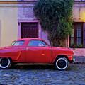 Vintage Car In Colonia Del Sacramento, Uruguay by Karol Kozlowski