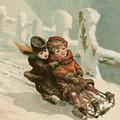 Vintage Christmas Card by English School