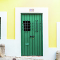 Wooden Door In Old San Juan, Puerto Rico by Jasmin Burton