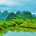 Karst Rural Scenery In Spring by Carl Ning