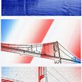 1000 Island International Bridge Triptych by Steve Ohlsen