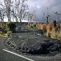 100925 Lava Flow On Road Hi by Ed Cooper Photography
