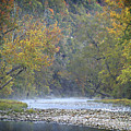 1010-3979 Buffalo River Boxley Valley Fall by Randy Forrester